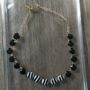 Kate Spade Black and white Gold Gem Necklace